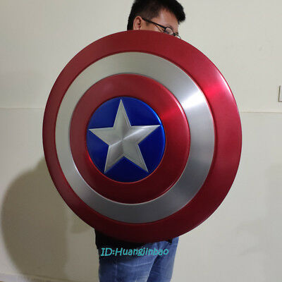 1/1 Scale Captain America Shield Model Aluminium Alloy Painted Cosplay Prop New