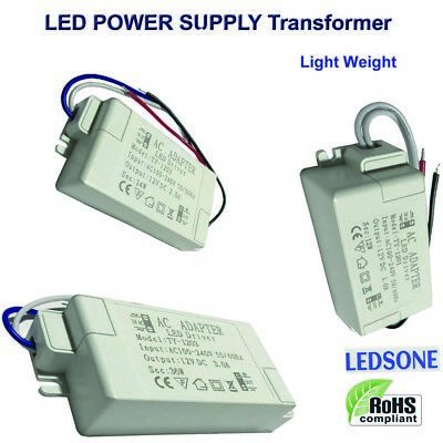 12W/24W/36W LED Driver Power Supply Adapter Transformer 240V DC12V Light Weight