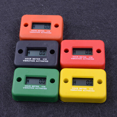 Waterproof Vibration Hour Meter for Motorcycle ATV Snowmobile Boat Gas Engine