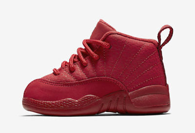 first rate a7f3e e1f93 NIKE AIR JORDAN Retro 12 XII Triple Gym Red Chicago Bulls Toddler Infant  Size