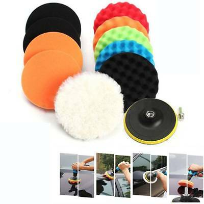 11 Pcs 3inches Buffing Sponge Polishing Pad Woolen Pad Kit Car Polisher Buffer
