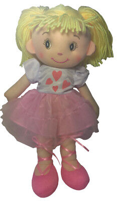 Teddy & Friends Rag Doll - Annabelle Ballerina [35cm] Soft Plush Toy Ragdoll NEW