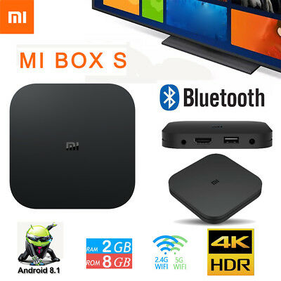 XIAOMI MI BOX S Smart TV Media Player 4K HDR Android 8,1 2 GB 8Go Version gl