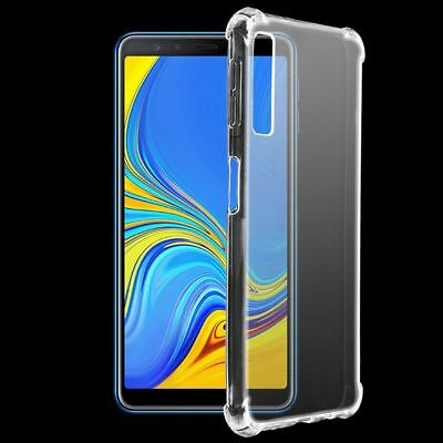 Shockproof Silicone Clear TPU Case Cover For Samsung Galaxy A7 2018 A9 Note 9