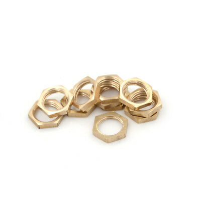 "10PCS 1/4"" BSP Female Thread Brass Hex Lock Nuts MEe Fitting ZN"