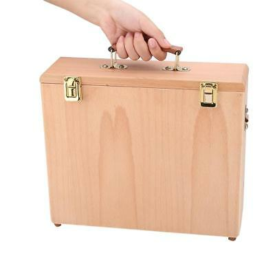 1pc Durable Beechwood Artist Easel Drawing Painting Storage Box Case With Strap