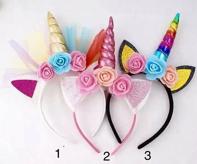 Unicorn Headband Party Festival Christmas Stocking AU Seller Excellent Quality