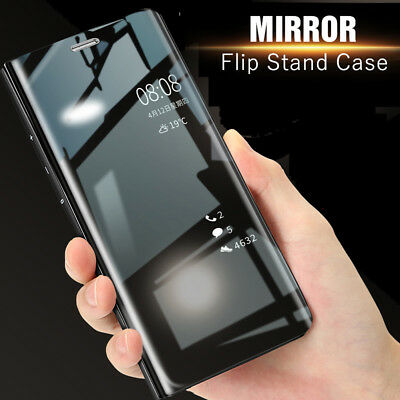 Luxury Smart 360° Full Cover Mirror Flip Stand Case For Huawei Mate 20 Pro 20 X