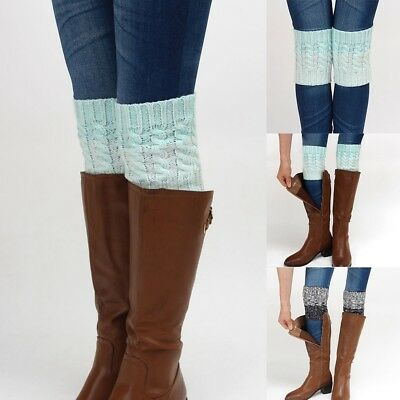 Warm Leg Cuffs Toppers Crochet Winter Warmers Women Ankle Knit Short Boot Socks