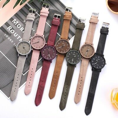 Fashion Leather Band Wrist Watch Women Ladies Ultra Thin Casual Quartz Watches