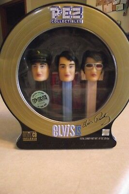 Elvis Presley Pez Collectible Tin Factory Sealed CD Included GI 60s 70s 2010