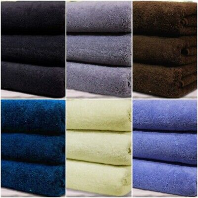 3 X Large Jumbo Bath Sheets Towels Extra Absorbent Pure Cotton Luxury XL Combed