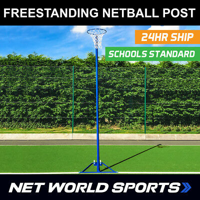 Freestanding Netball Posts [School Standard] Galvanised Steel - Pink Or Blue