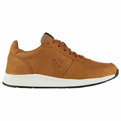 Mens Lyle and Scott Speedie Leather Trainers Runners Lace Up New