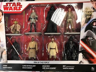 Star Wars Action Figure 8pk Era of the Force Collectible Disney Set