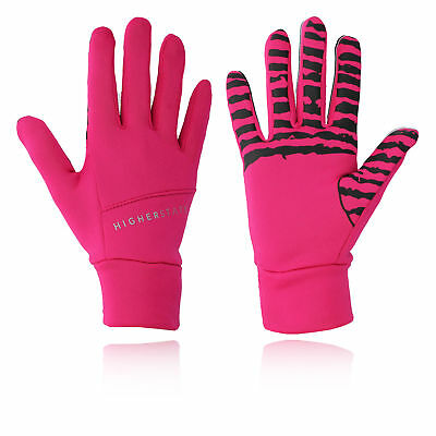 Higher State Womens Running Gloves Pink Sports Outdoors Breathable Reflective