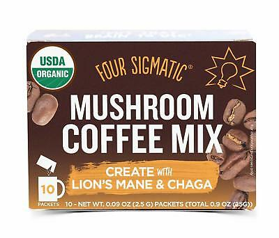 10 Packets Mushroom Coffee With Lions Mane And Chaga 2.5g FOUR SIGMATIC