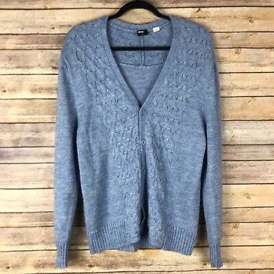 45919d87e6 BDG Womens Sweater Acrylic Wool Blend Boyfriend Cardigan V Neck Cable Knit M