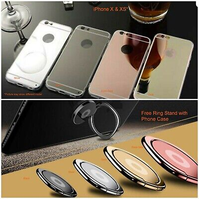 For iPhone X Luxury Silicone Ultra-Thin Mirror TPU Metal Case Shiny Bling Colors