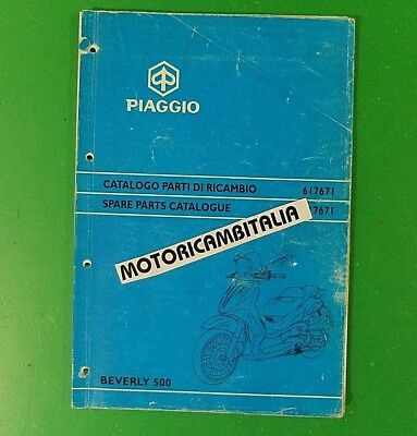 Piaggio Beverly 500 Zapm Catalogo Ricambi Catalogue Spare Part List