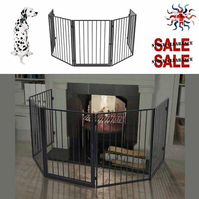 Fireguard Pet Dog Fireplace Grills Fence Steel Hearth Gate Safety Stable Barrier