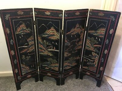 Chinese Lacquered Screen -mid 20th Century