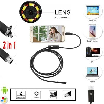 Megapixels HD USB C Endoscope Borescope Inspection Camera for Android NL