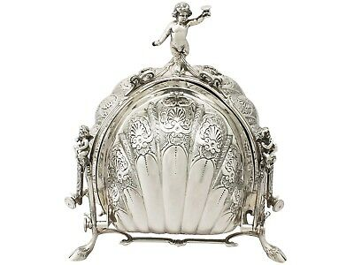 Italian Sterling Silver Triple Opening Biscuit Box Contemporary Circa 2005