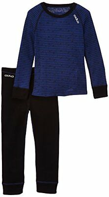 Odlo Kinder Set Shirt Long Sleeve Pants Warm Kids schwarz G. 80