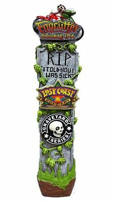Brand New In The Box Lost Coast Brewery Beer Fogcutter Tombstone Tap Handle!!
