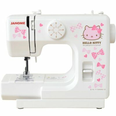 Janome Hello Kitty Compact White Sewing Machine KT-W Japan Import