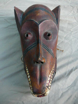 African Animal Mask Carved