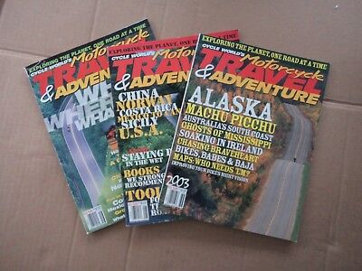 """Lot Cycle World """"Motorcycle Travel and Adventure"""" 2001, 2002, and 2003 editions"""