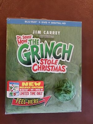 Dr. Seuss How The Grinch Stole Christmas-Deluxe Edition(Blu-ray+DVD+HD)Fur Cover
