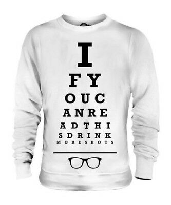 You Need More Shots Unisex Sweater Top Gift Funny Eye Test