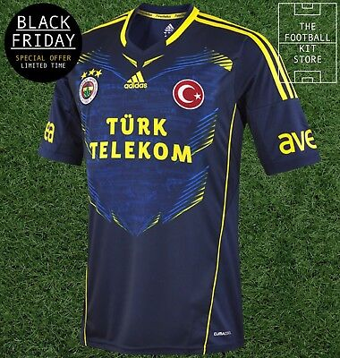 Fenerbahce Away Shirt - adidas Turkish Football Jersey - Mens - BLACK FRIDAY