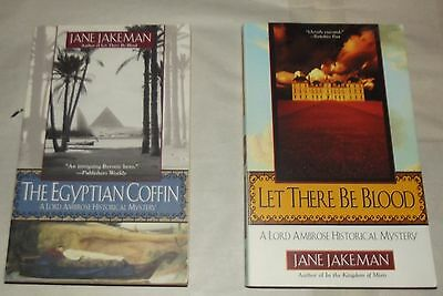 JANE JAKEMAN lot of 2 PBs LET THERE BE BLOOD Egyptian Coffin