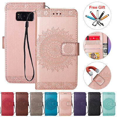 Slim Leather Case Stand Wallet Flip Phone Cover For Samsung Galaxy S9 A6 A7 2018