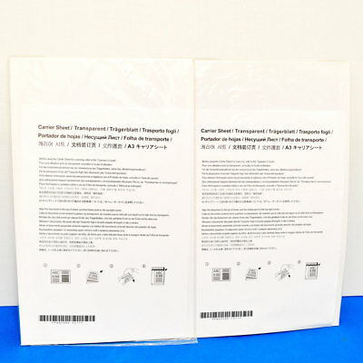 2x Fujitsu PA03586-Y271  ScanSnap Carrier Sheets New Sealed {Lot of 2 Sheets}