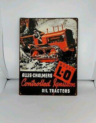 "1937 Allis Chalmers Model L-O Crawler Tractor Track Metal Sign 9x12"" 60644"