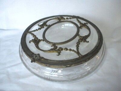 Unusual Early Victorian Large Glass Pot For Dressing Table