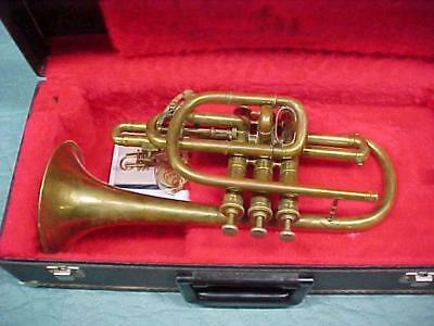 Antique Oliver Ditson Boston Cornet Great Ready to Play