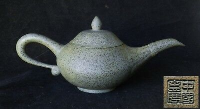 Vintage Chinese Lamp-Shaped Blue TianQing Yixing Zisha Clay Teapot