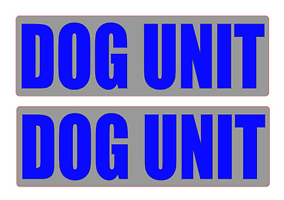 DOG UNIT REFLECTIVE Magnet K9 Handler Car Door Magnets Search & Rescue 460mm x2