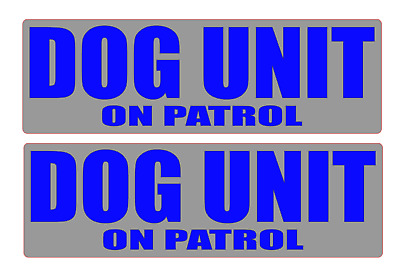 DOG UNIT on patrol REFLECTIVE Magnet K9 Handler Magnets Search & Rescue 460mm x2