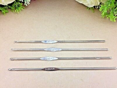 4 x Aluminium Crochet Hooks Yarn Knitting Needles SET 1.5 - 3 mm