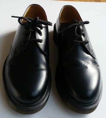 Dr Martens Black Leather Made in England Lace Up Shoes UK 5, EU 38