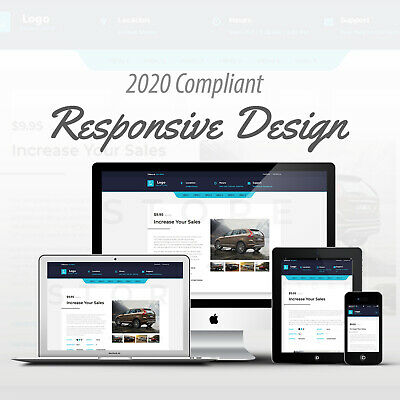 2019 Compliant Mobile Responsive Ebay Auction Listing Template Cars and Trucks