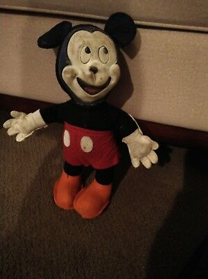 AMAZING antique Mickey Mouse stuffed animal, Walt Disney Productions!