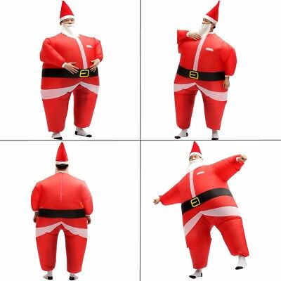 Christmas Santa Claus Blow Up Inflatable Costume Fancy Party Dress Suit Outfit